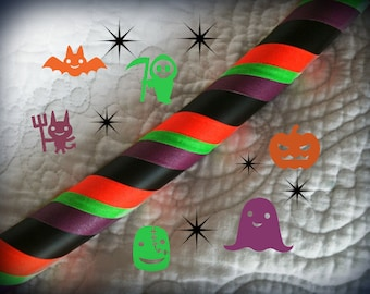 Spooky Series: Bump in the Night Dance & Exercise Hula Hoop COLLAPSIBLE Halloween - neon green purple black orange