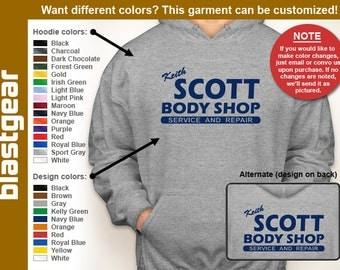 Keith Scott Body Shop hoodie/hooded sweatshirt — Any color/Any size - Adult S, M, L, XL, 2XL, 3XL, 4XL, 5XL  Youth S, M, L, XL
