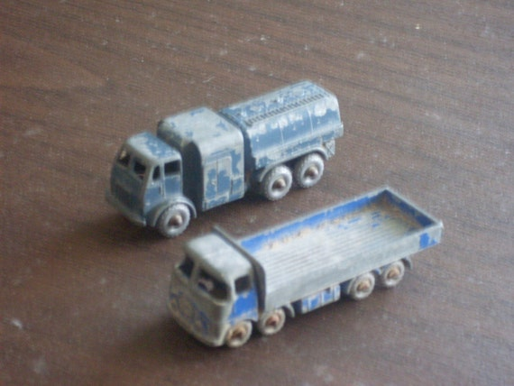 Vintage 1960s Lesney Toy Trucks Made in England