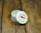 Paper Mache Sparkly Snowman Gift Box