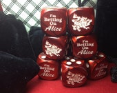 1 Set of I'm Betting on Alice Red Dice