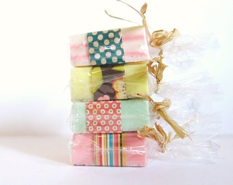 YOU CHOOSE 4 BARS: Soap set, gift set, handmade soap, natural soap, goats milk soap