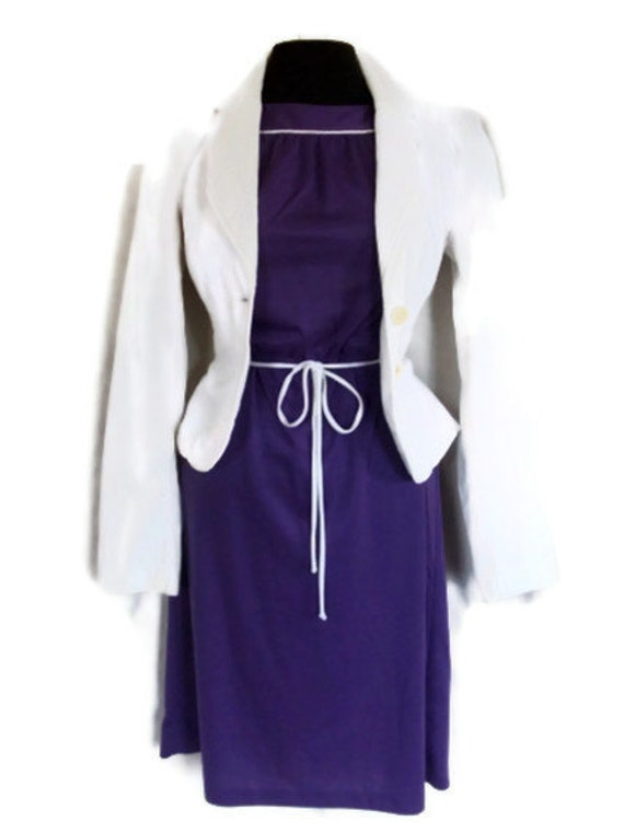 Purple Vintage Day Dress - Nautical - Rockabilly