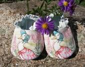 Baby Slip on Shoes--Jemima Puddle Duck--Beatrix Potter--fully reversible