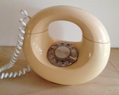 Ivory colored doughnut phone
