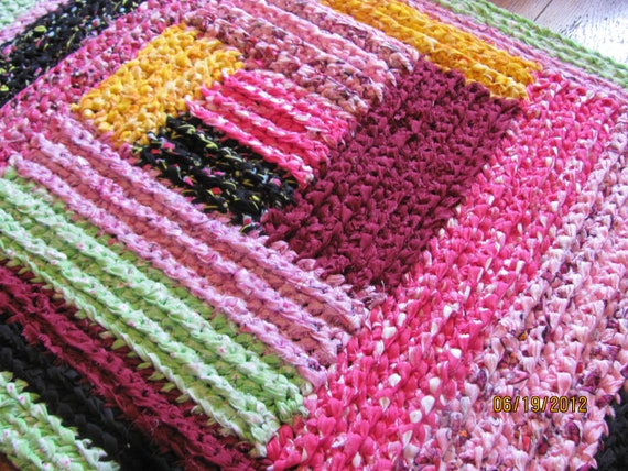 "Rag Rug....""Happy Colors"""