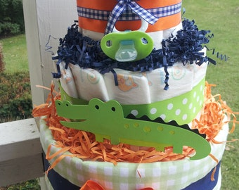 ALLIGATOR 3 Tier diaper cake