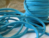 Turquoise Split Suede Leather Lace 3MM Craft Jewelry Cord 5 Yds