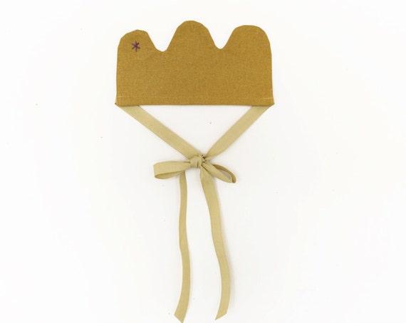 Linen Crown - a Flower Princess Crown - pretend toy (accessory)