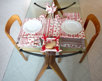 table set folk for home decor in mountain style + cushion and accessories