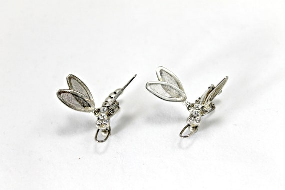 Vintage dragonfly clips, articulated, for hair or accessorizing hat pin,