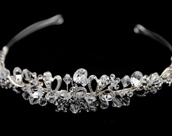 Bridal Headband, Freshwater Pearl and Rhinestone Bridal Headband, Crystal Wedding Headband, Wedding Bridal Hair Accessories