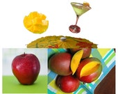Novelty Small Cute Gift for Friends Mango Appletini Sachets Scented Tropical Decor Home Accent Fragrance Card Stuffer Kitschy