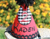 Mickey Mouse Birthday Hat - Houndstooth
