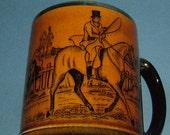 1950s Arthur Wood Ye Olde Coaching & Hunting Days Mug - Made in England