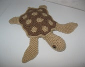 MADE to ORDER Sea Turtle Realistic Amigurumi Soft Plush Crocheted Toy Beige Brown