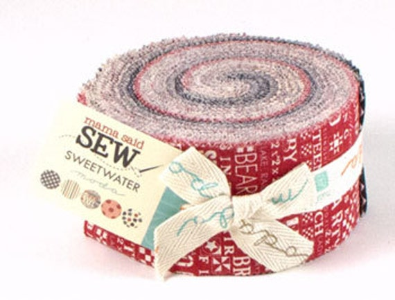Sale - Mama Said Sew by Sweetwater for Moda - One Jelly Roll - 5490JR