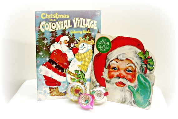 Set Of 2 Vintage Childrens Christmas Books