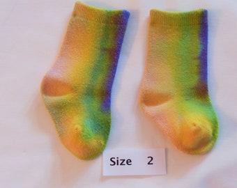 Baby socks, children socks, bamboo socks, dyed socks, socks, OOAK