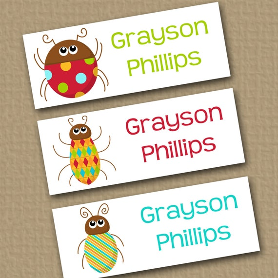 Personalized Waterproof Label Stickers Boy By Theprintedparty
