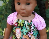 American Girl Doll Pink Ruffle Dress