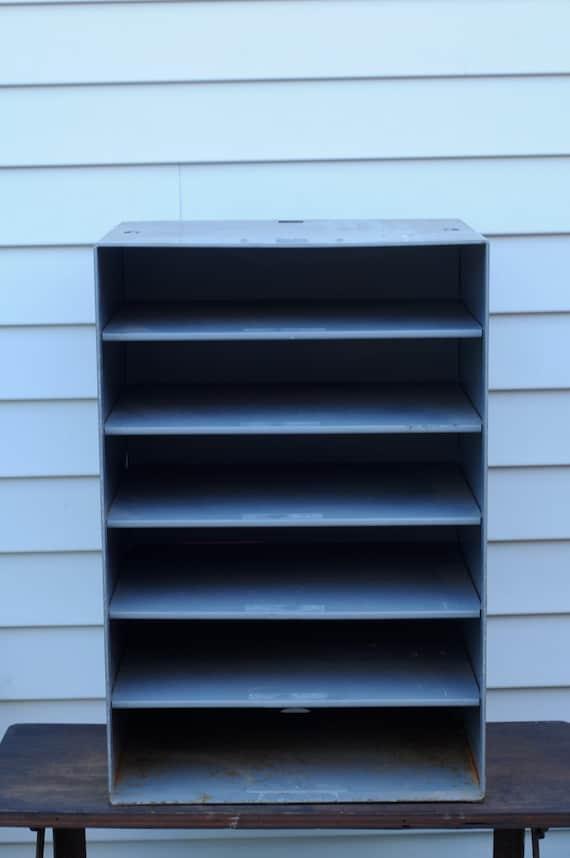 Industrial Metal Legal Size Paper Shelf Sorter File Cabinet