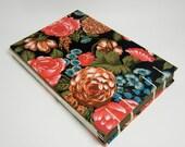 Coptic Stitch Sketchbook/Guestbook Medium- Dark Floral Pattern