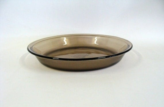 Items Similar To Pyrex Glass Pie Plate Dish Deep Amber