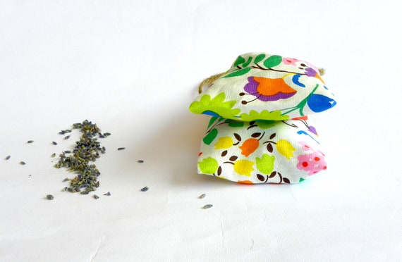 Refillable Lavender Sachets, Multicolor Reusable Lavender Bags, Fall Houseware Gifts