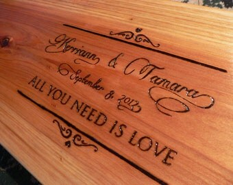 """Song lyrics anniversary or wedding gift personalized two person tree swing 34-36"""""""