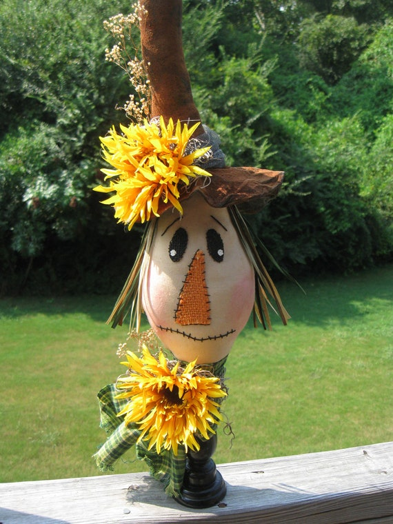 Scarecrow, Fall Decor, Primitive Decor, Halloween, Sunflower, Home Decor