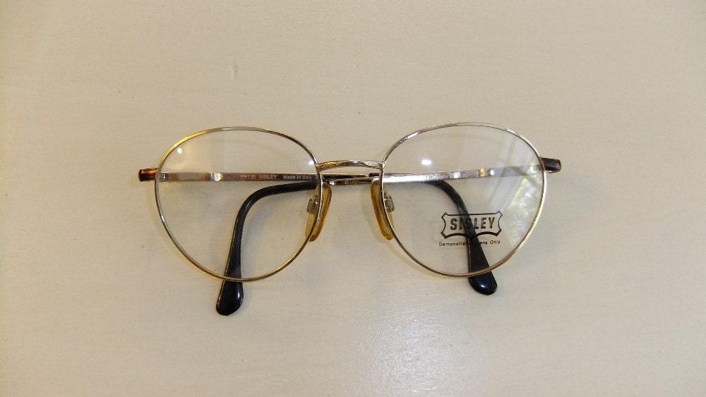 Vintage Sisley 90s Round Eyeglasses New Old Stock by Tomyres