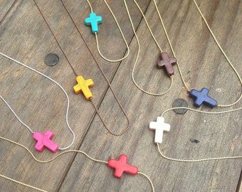 Cross Necklace Customized to Your Color