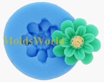A345 Chrysanthemum Silicone Mold Silicon Mould For Polymer Clay Crafts Jewelry 17mm