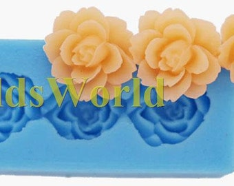A372 Flower Rose Polymer Clay Silicone Mold Food Grade Silicon Crafts Mould 48mm