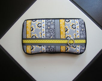 Boutique Diaper Wipes Travel Case Black Yellow Gray Floral Grey Stripes Steelers