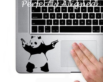 Banksy inspired Panda decal for Macbook Trackpad