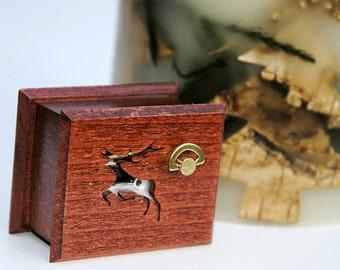 "Christmas  wooden handmade musical box  ""We Wish You a Merry Christmas"" mini3"