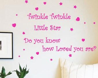 Twinkle Twinkle Little Star Children Wall Art Sticker / Nursery Kids Wall Decals from AmazingSticker