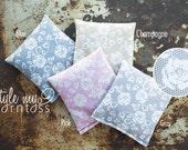 Cornhole Bags - Full Set (8 bags) // Lace Pattern