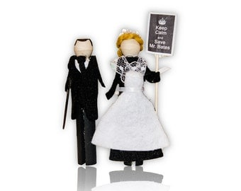 Downton Abbey Clothespin Doll Ornament Kit: Mr. Bates and Anna