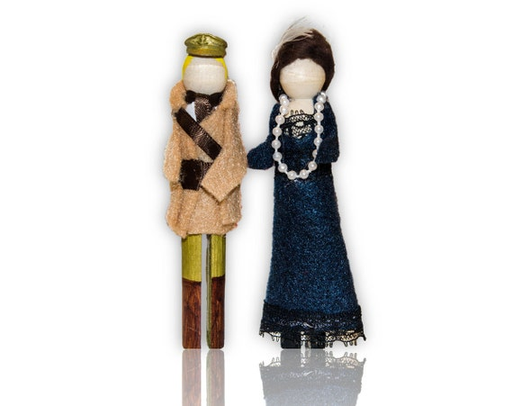 Downton Abbey Clothespin Doll Ornament Kit: Lady Mary and Matthew Crawley