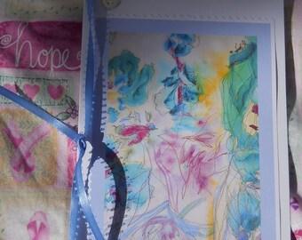 Guardian Angel Cards, Breast Cancer Cards, Healing Art Cards, Angel Cards, Set of 5, Lavender Blue Cards, KSonya, FromGlenToGlen