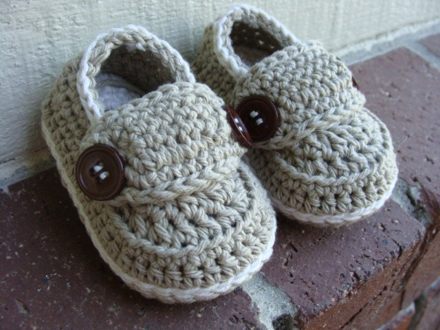 Crochet Pattern Baby Boy Loafers : Crochet baby boy booties loafers shoes Made To Order Newborn
