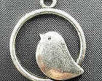 Round Bird Charm
