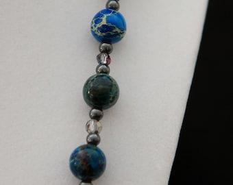 Lapis Blue Magnesite Necklace