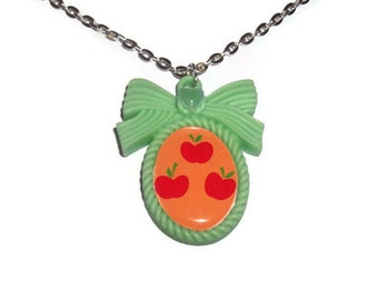 Applejack Cutie Mark Necklace, Friendship is Magic, Kawaii Cameo Necklace