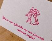Letterpress Wedding Congratulations Card