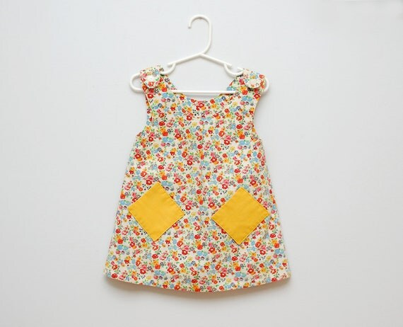 Vintage 1950s colorful flower dress