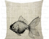 Gold Fish Graphic, Digital Download Fish